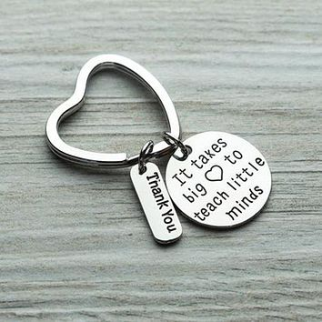 Teacher Big Heart Keychain