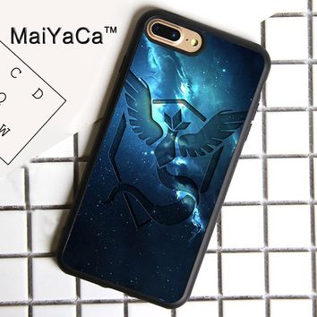 MaiYaCa Pokemons team mystic art Print Soft Rubber Cover For iPhone 8 Plus Case For Apple iPhone 8plus Phone Cases Shell