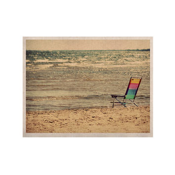 "Angie Turner ""Beach Chair"" Sandy Beach KESS Naturals Canvas (Frame not Included)"
