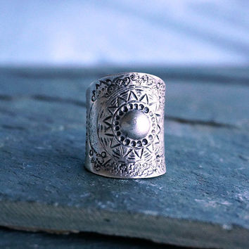 Tessa Tribal Silver Ring Gypsy Ring Bohemian Jewelry