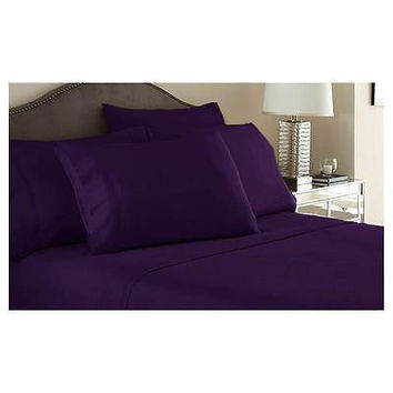 Regal Comfort Bamboo Luxury 2100 Series Hotel Quality Sheet Twin Purple