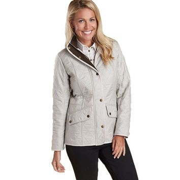 Cavalry Polarquilt Jacket in Pearl/Rustic by Barbour