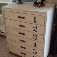 CUSTOM Painted Vintage Furniture Shabby Dresser Chest of Drawers