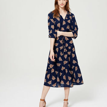 Faraway Floral Dress | LOFT