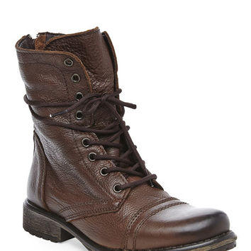 STEVE MADDEN Brown Fame Combat Boot