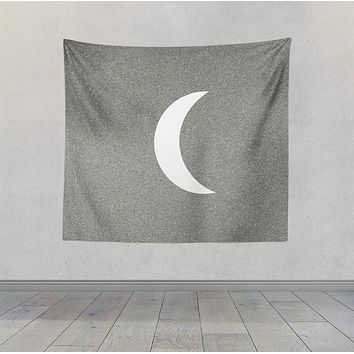 Moon Sketch Black and White Wall Hanging For Meditation