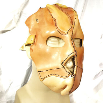 Leather skin mask handmade