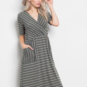 Francis French Terry Midi Dress