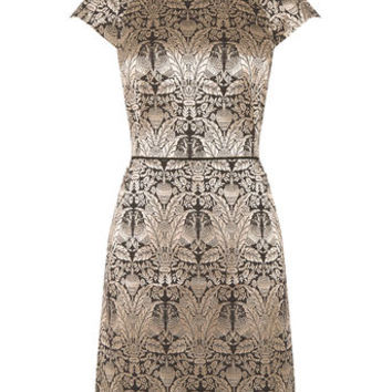 WARNER JACQUARD SHIFT DRESS