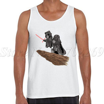 Fashion Star Wars Men tank tops vingtage style The Darth King printed Vest hipster o-neck casual basic men singlet