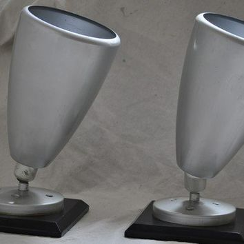 Pair of Uplights/ Lamp Set / Mid Century Silver by TheVelvetBranch