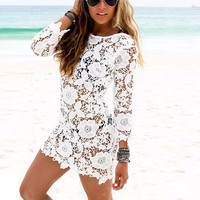Cozy Sexy Women Lace Crochet Tassel Bikini Swimwear Cover Up Beach Dress Bathing Suit