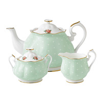 Royal Albert Polka Rose Teapot/ Sugar/ Creamer Set