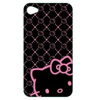 Hello Kitty Polycarbonate Wrap for iPhone® 4 - Black/ Pink (KT4488BK4)