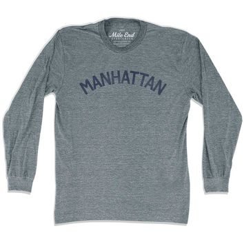 Manhattan City Vintage Long Sleeve T-Shirt