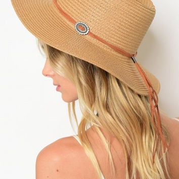 Summer Hat With Strap & Buckle Detail