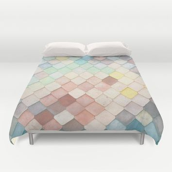 Colorful Mosaic Pattern Duvet Cover by Nirvana.K | Society6