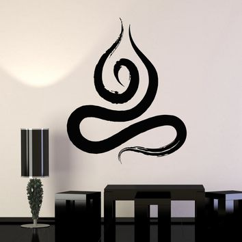 Vinyl Mural Zen Buddhist Meditation Yoga Prayer Art Wall Decal Stickers Unique Gift (ig3319)