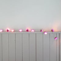 French Roses Fairy lights - Lilac