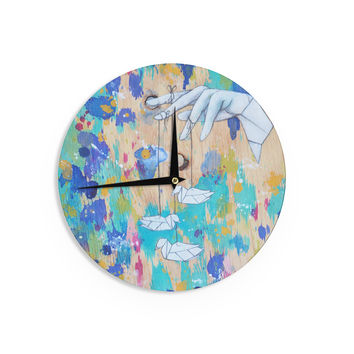 "Kira Crees ""Origami Strings"" Wall Clock"