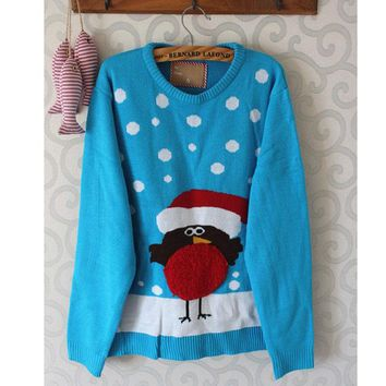 2017 Funny Womens Ugly Christmas Sweaters Knitted Xmas Sweater for Girls Holiday Party Pullover Jumper