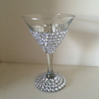 Rhinestone Martini Glass, Create Your Own