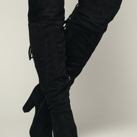 So Over It Thigh High Boots (Black)