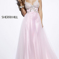 Elegant Designer Evening Gown, Sherri Hill Long Dresses- PromGirl
