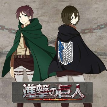 Cool Attack on Titan thick Anime  Cosplay Costumes MEN WOMEN Hoodie cape Sweater CLOTHES cloak clothes AT_90_11