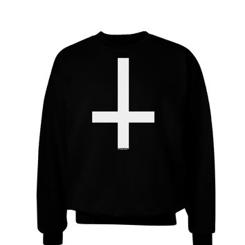 Inverted Cross Adult Dark Sweatshirt