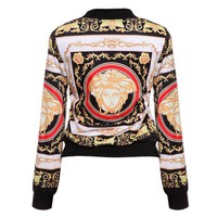 Versace New fashion print more color women long sleeve top coat jacket