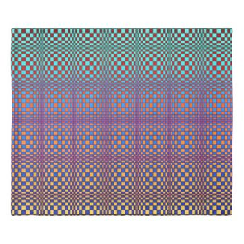 Abstract Squares 3 Duvet Cover