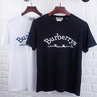 BURBERRY Hot Sale Classic Embroidery Comfortable T-Shirt Top Blouse