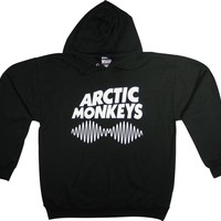 RTGraphics Men's Arctic Monkeys II Waves Hoodie Sweater Medium Black