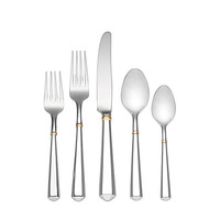 Kate Spade Todd Hill Gold 5 Piece Place Setting Stainless ONE
