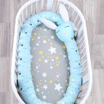 Infant Bedding Bumper Baby Crib Protector Bumper Kids Room Decoration Newborn Cotton Bedding Baby Crib Bumper 330CM