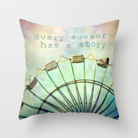 every summer has a story Throw Pillow by Sylvia Cook Photography | Society6
