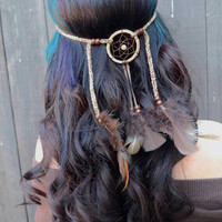 Brown Dreamcatcher Headband #A1002