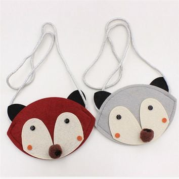 Animal Shape Kids Coin Bag Handmade Non-woven Fabric Patch Handbag Children Mini Bag Kid Girl Toy Bag Small Wallet Pouch