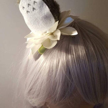 Totoro on my Head hair clip(clearance!)