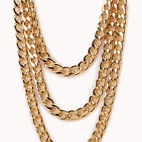 Scoop up chunky chains, rolo chains, splashy curb chains | Forever 21