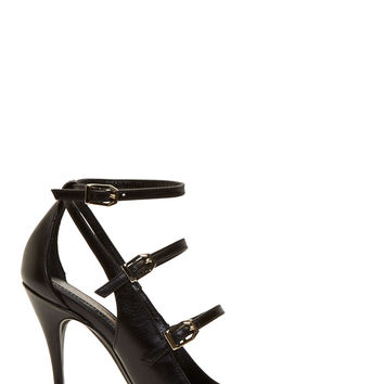 Nicholas Kirkwood Black Multi Strap Leather Heels