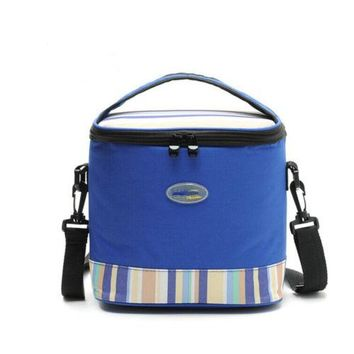 Premium 6L portable Personal Cooler  Lunch Bag Box   blue