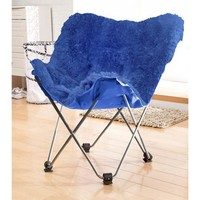your zone lux shag butterfly chair, Multiple Colors - Walmart.com