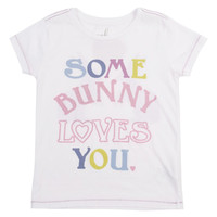 'Some Bunny Loves You' Graphic Tee (Toddler Girls, Little Girls & Big Girls)