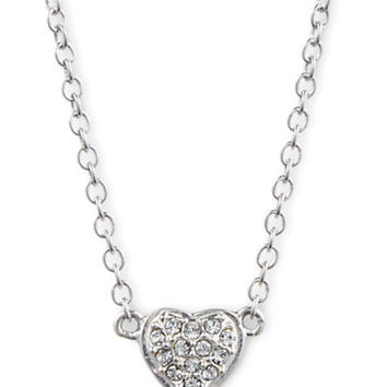 Judith Jack Sterling Silver and Crystal Heart Pendant Necklace
