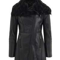 Kardashian Kollection Bonded Fur Coat