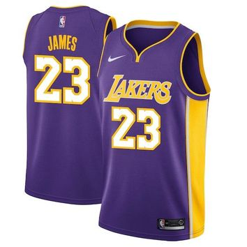 LeBron James Los Angeles Lakers #23 Nike Purple Swingman Statement Edition jerseys - Best Deal Online