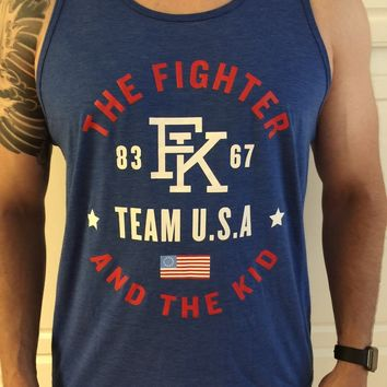 The Fighter And The Kid Tank Top -- Blue