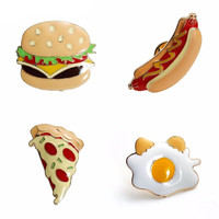 Food Burger Hotdog Eggs Pizza Pins